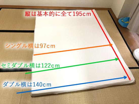 マットレスやベッドの基本的なサイズと規格