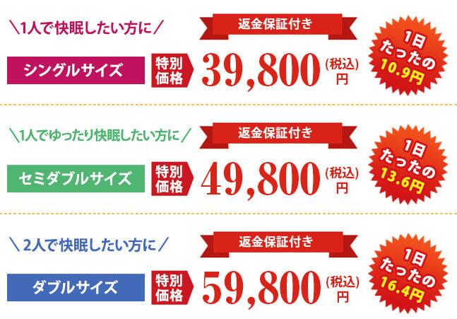 モットンが激安で買えるのは公式サイトだと分かる価格画像